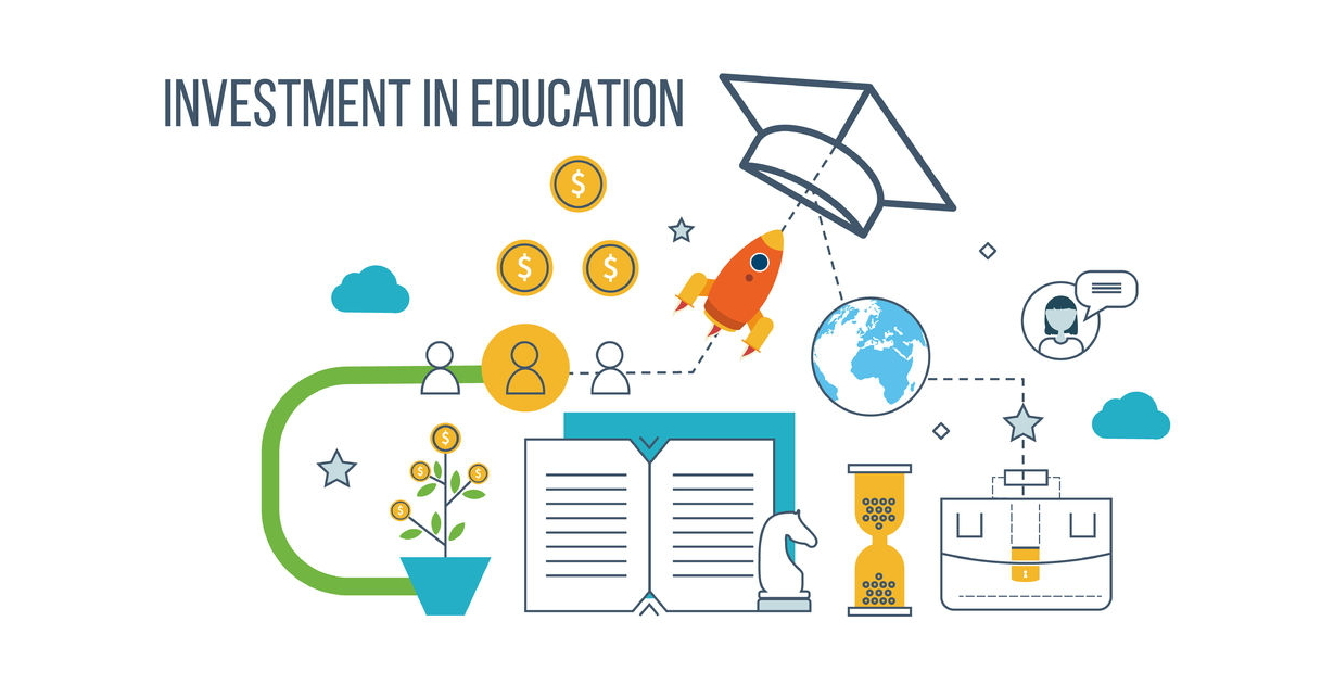 50554207 - investment in education. education concept. strategy of successful learning. business development